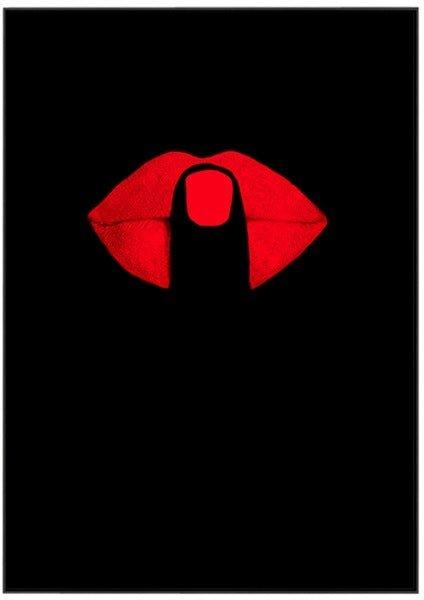 På billedet ser du Red Mouth Art, Illustration m. ramme fra brandet House of Sander i en størrelse H: 3 cm. B: 70 cm. L: 100 cm. i farven Multifarvet