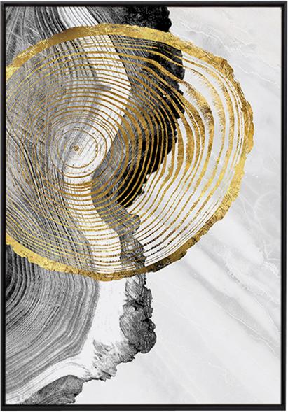 På billedet ser du variationen Golden wood 2, Illustration m. ramme fra brandet House of Sander i en størrelse H: 3 cm. B: 70 cm. L: 100 cm. i farven Multifarvet