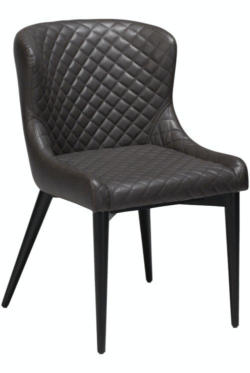 På billedet ser du variationen Vetro, Spisebordsstol, Kunstlæder fra brandet DAN-FORM Denmark i en størrelse H: 80 cm. B: 50 cm. i farven Grå/Sort