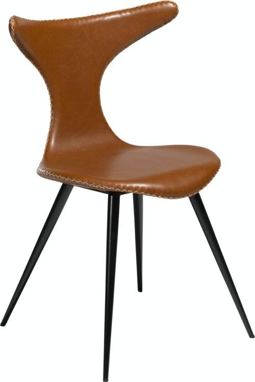 På billedet ser du variationen Dolphin, Spisebordsstol, Kunstlæder fra brandet DAN-FORM Denmark i en størrelse H: 83 cm. B: 56 cm. i farven Brun/Sort