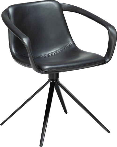 På billedet ser du variationen Jomo, Spisebordsstol, Kunstlæder fra brandet DAN-FORM Denmark i en størrelse H: 78 cm. B: 65 cm. i farven Sort