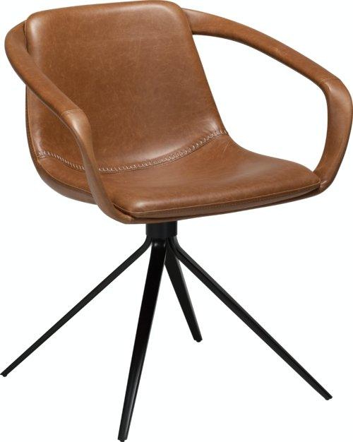 På billedet ser du variationen Jomo, Spisebordsstol, Kunstlæder fra brandet DAN-FORM Denmark i en størrelse H: 78 cm. B: 65 cm. i farven Brun/Sort
