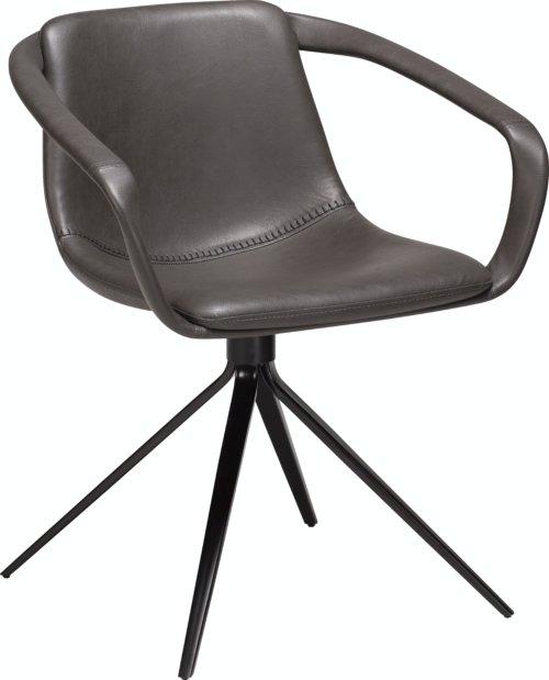 På billedet ser du variationen Jomo, Spisebordsstol, Kunstlæder fra brandet DAN-FORM Denmark i en størrelse H: 78 cm. B: 65 cm. i farven Grå/Sort