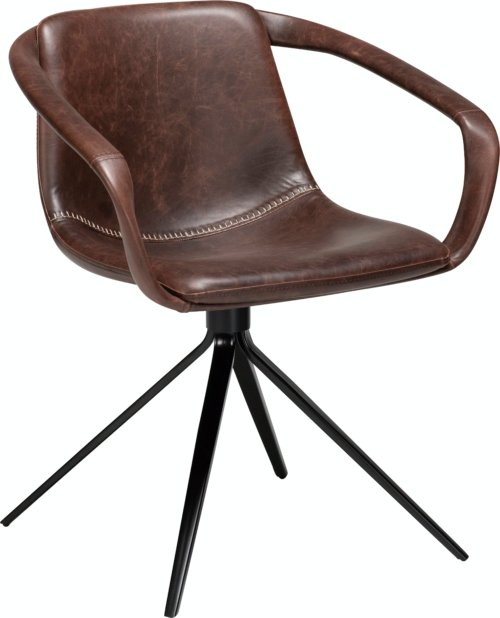 På billedet ser du variationen Jomo, Spisebordsstol, Kunstlæder fra brandet DAN-FORM Denmark i en størrelse H: 78 cm. B: 65 cm. i farven Kakao/Sort