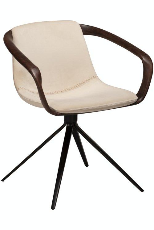 På billedet ser du variationen Jomo, Spisebordsstol, Fløjl fra brandet DAN-FORM Denmark i en størrelse H: 78 cm. B: 65 cm. i farven Beige/Sort