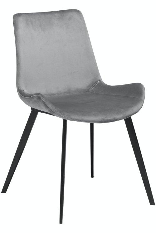 På billedet ser du variationen Hype, Spisebordsstol, Fløjl fra brandet DAN-FORM Denmark i en størrelse H: 80 cm. B: 52 cm. i farven Grå/Sort
