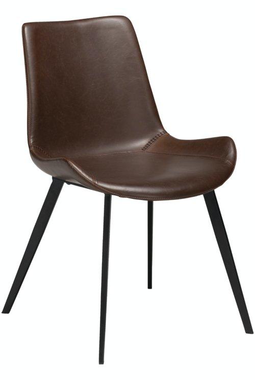 På billedet ser du variationen Hype, Spisebordsstol, Kunstlæder fra brandet DAN-FORM Denmark i en størrelse H: 80 cm. B: 52 cm. i farven Brun/Sort