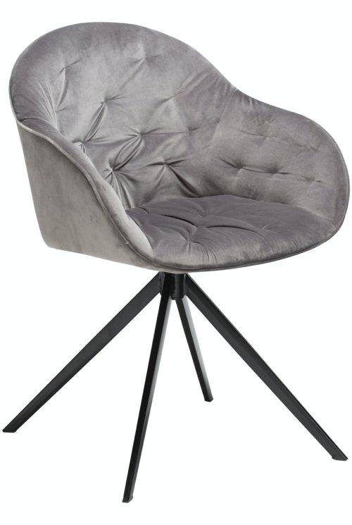 På billedet ser du variationen Cray, Spisebordsstol, Fløjl fra brandet DAN-FORM Denmark i en størrelse H: 83 cm. B: 59 cm. i farven Grå/Sort