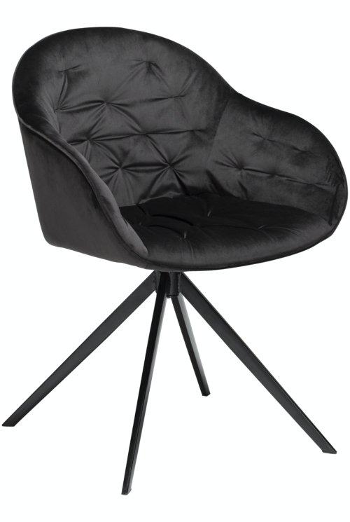 På billedet ser du variationen Cray, Spisebordsstol, Fløjl fra brandet DAN-FORM Denmark i en størrelse H: 83 cm. B: 59 cm. i farven Sort