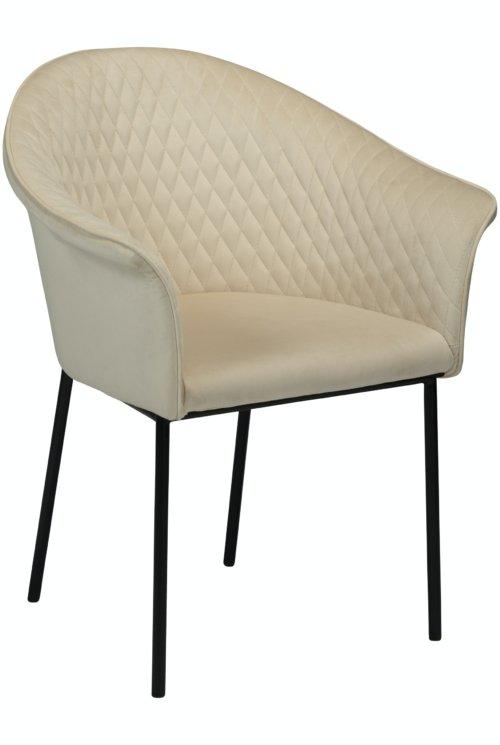 På billedet ser du variationen Kite, Spisebordsstol, Fløjl fra brandet DAN-FORM Denmark i en størrelse H: 82 cm. B: 65 cm. i farven Beige/Sort
