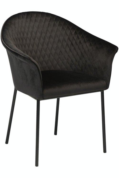 På billedet ser du variationen Kite, Spisebordsstol, Fløjl fra brandet DAN-FORM Denmark i en størrelse H: 82 cm. B: 65 cm. i farven Sort