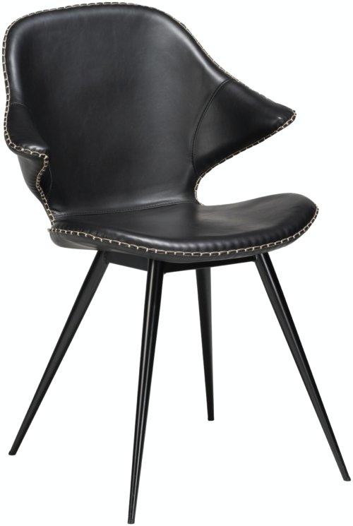 På billedet ser du variationen Karma, Spisebordsstol, Kunstlæder fra brandet DAN-FORM Denmark i en størrelse H: 86 cm. B: 62 cm. i farven Sort