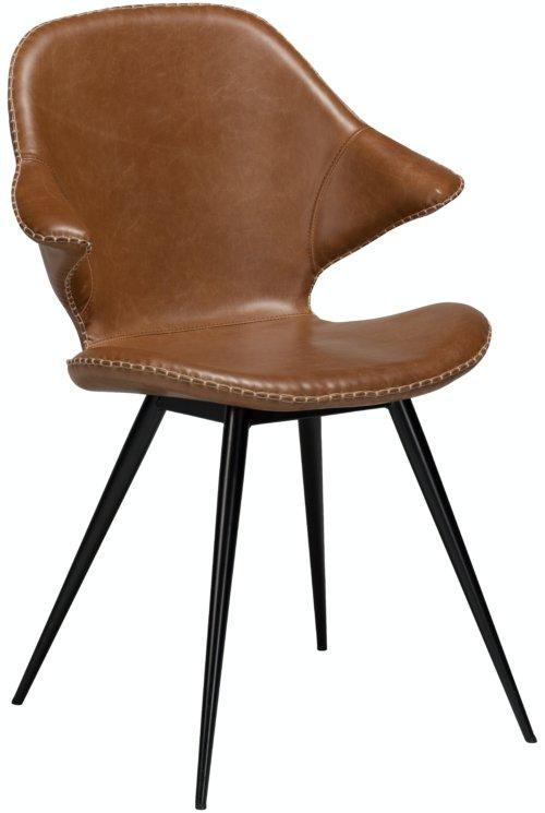 På billedet ser du variationen Karma, Spisebordsstol, Kunstlæder fra brandet DAN-FORM Denmark i en størrelse H: 86 cm. B: 62 cm. i farven Brun/Sort
