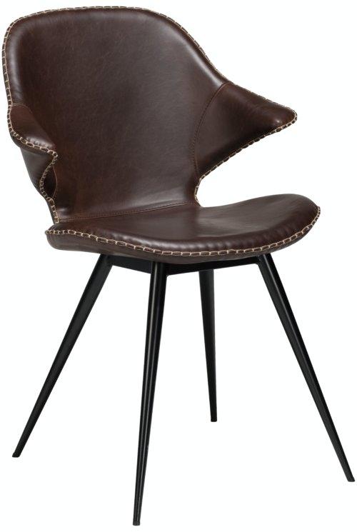 På billedet ser du variationen Karma, Spisebordsstol, Kunstlæder fra brandet DAN-FORM Denmark i en størrelse H: 86 cm. B: 62 cm. i farven Kakao/Sort