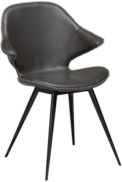 På billedet ser du variationen Karma, Spisebordsstol, Kunstlæder fra brandet DAN-FORM Denmark i en størrelse H: 86 cm. B: 62 cm. i farven Grå/Sort