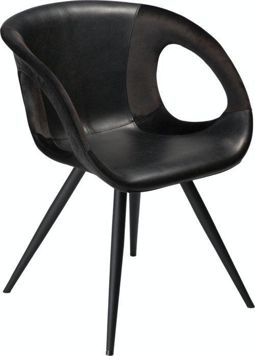 På billedet ser du variationen Omega, Spisebordsstol, Kunstlæder fra brandet DAN-FORM Denmark i en størrelse H: 80 cm. B: 59 cm. i farven Sort