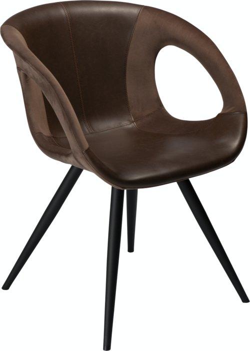 På billedet ser du variationen Omega, Spisebordsstol, Kunstlæder fra brandet DAN-FORM Denmark i en størrelse H: 80 cm. B: 59 cm. i farven Brun/Sort