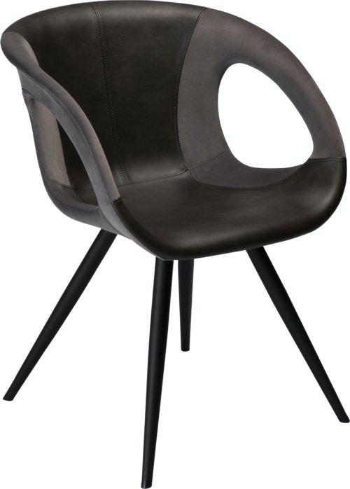 På billedet ser du variationen Omega, Spisebordsstol, Kunstlæder fra brandet DAN-FORM Denmark i en størrelse H: 80 cm. B: 59 cm. i farven Grå/Sort