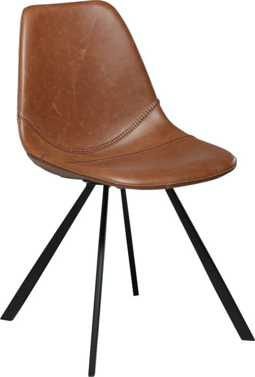 På billedet ser du variationen Pitch, Spisebordsstol, Kunstlæder fra brandet DAN-FORM Denmark i en størrelse H: 81 cm. B: 45 cm. i farven Brun/Sort