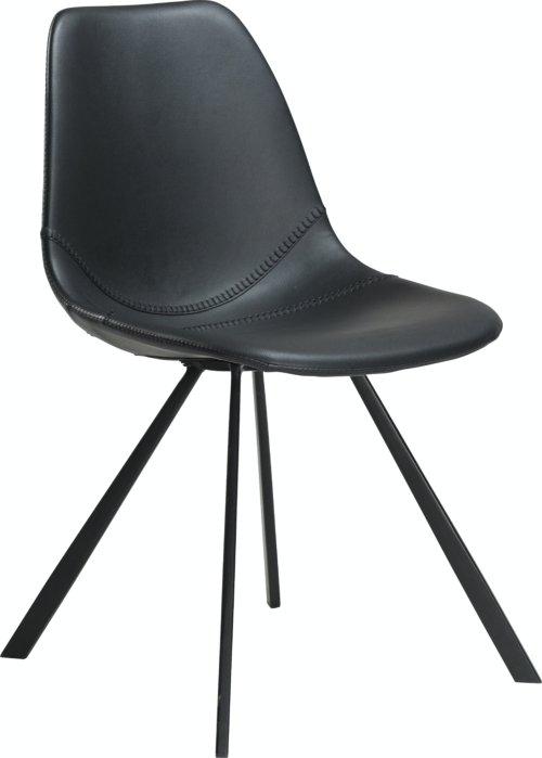 På billedet ser du variationen Pitch, Spisebordsstol, Kunstlæder fra brandet DAN-FORM Denmark i en størrelse H: 81 cm. B: 45 cm. i farven Sort
