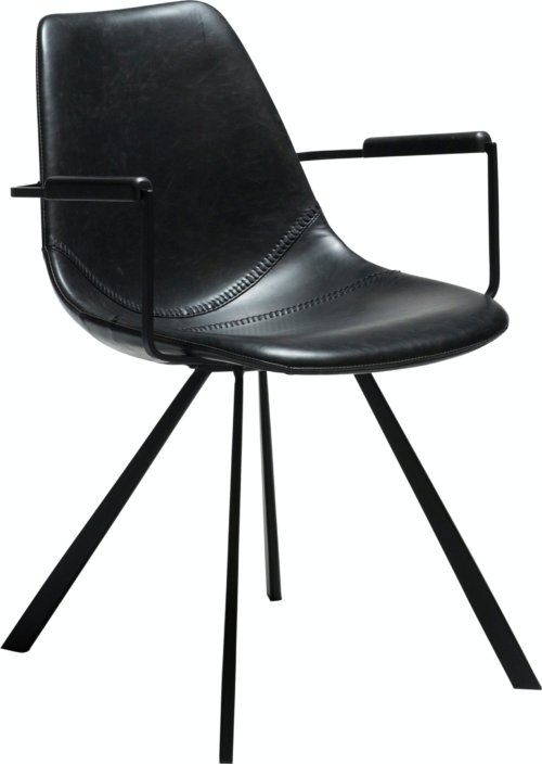 På billedet ser du variationen Pitch, Lænestol, Kunstlæder fra brandet DAN-FORM Denmark i en størrelse H: 80 cm. B: 55 cm. i farven Sort