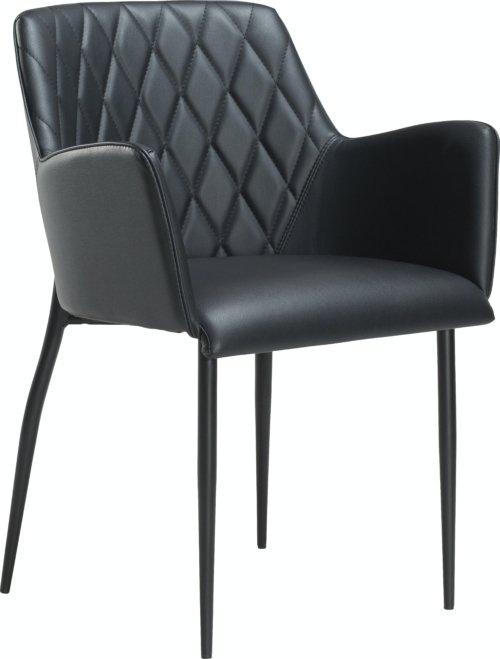 På billedet ser du variationen Rombo, Spisebordsstol, Kunstlæder fra brandet DAN-FORM Denmark i en størrelse H: 80 cm. B: 56 cm. i farven Sort