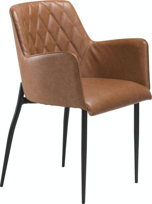 På billedet ser du variationen Rombo, Spisebordsstol, Kunstlæder fra brandet DAN-FORM Denmark i en størrelse H: 80 cm. B: 56 cm. i farven Brun/Sort