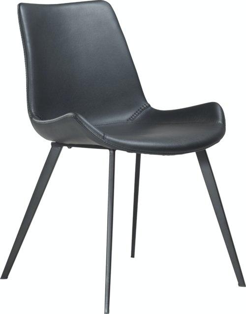 På billedet ser du variationen Hype, Spisebordsstol, Kunstlæder fra brandet DAN-FORM Denmark i en størrelse H: 80 cm. B: 52 cm. i farven Sort
