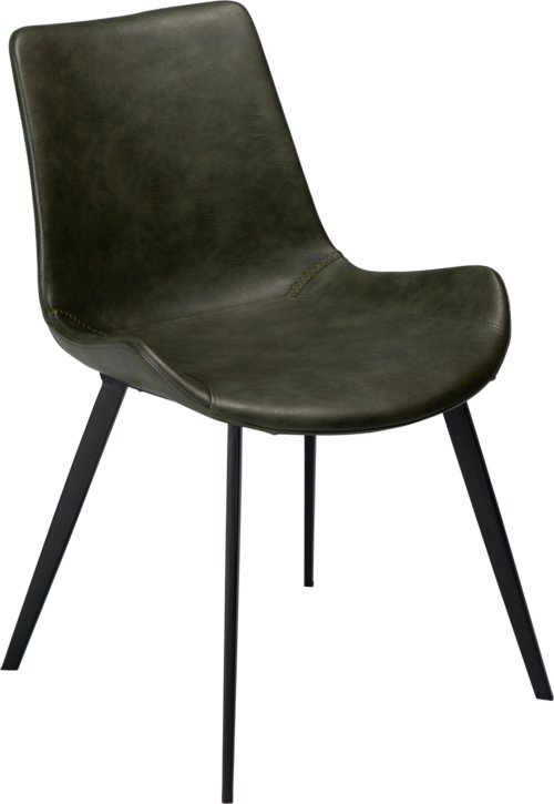 På billedet ser du variationen Hype, Spisebordsstol, Kunstlæder fra brandet DAN-FORM Denmark i en størrelse H: 80 cm. B: 52 cm. i farven Grøn/Sort
