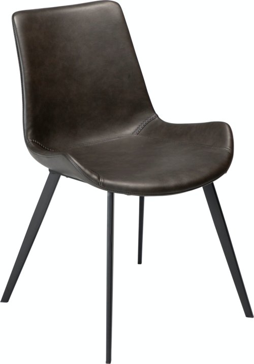 På billedet ser du variationen Hype, Spisebordsstol, Kunstlæder fra brandet DAN-FORM Denmark i en størrelse H: 80 cm. B: 52 cm. i farven Grå/Sort