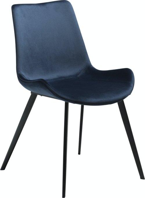 På billedet ser du variationen Hype, Spisebordsstol, Fløjl fra brandet DAN-FORM Denmark i en størrelse H: 80 cm. B: 52 cm. i farven Blå/Sort