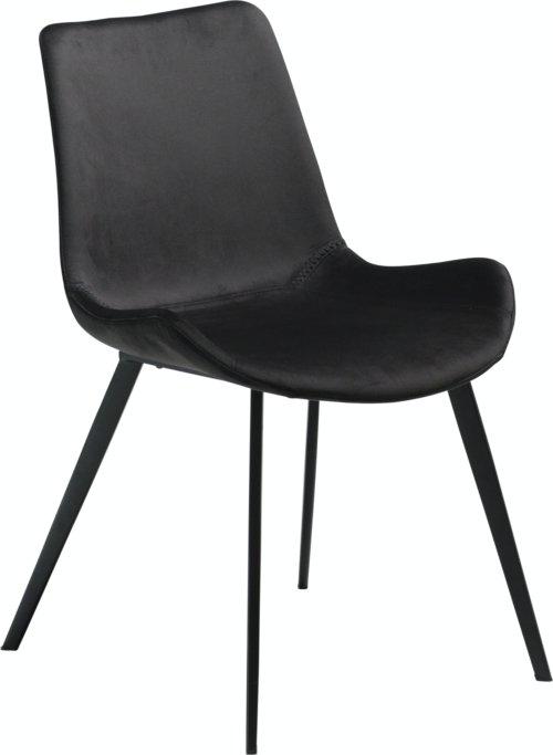På billedet ser du variationen Hype, Spisebordsstol, Fløjl fra brandet DAN-FORM Denmark i en størrelse H: 80 cm. B: 52 cm. i farven Sort