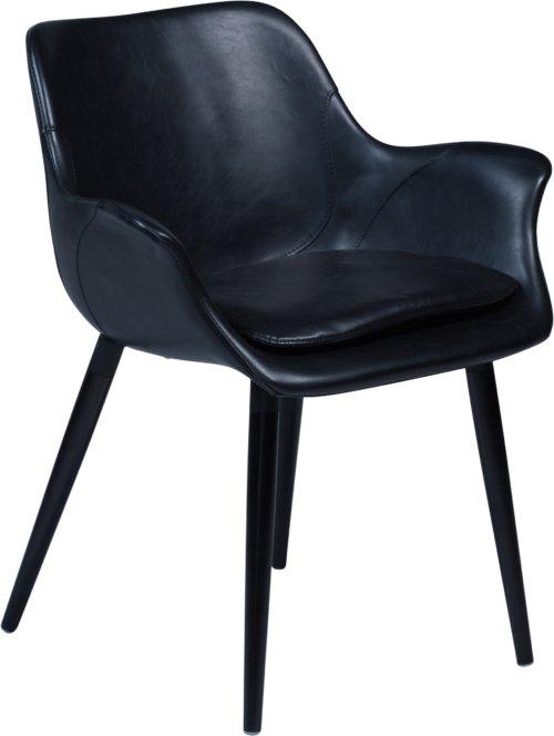 På billedet ser du variationen Combino, Spisebordsstol med armlæn, Kunstlæder fra brandet DAN-FORM Denmark i en størrelse H: 77 cm. B: 64 cm. i farven Sort