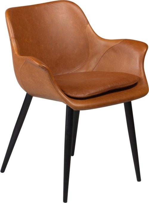 På billedet ser du variationen Combino, Spisebordsstol med armlæn, Kunstlæder fra brandet DAN-FORM Denmark i en størrelse H: 77 cm. B: 64 cm. i farven Brun/Sort