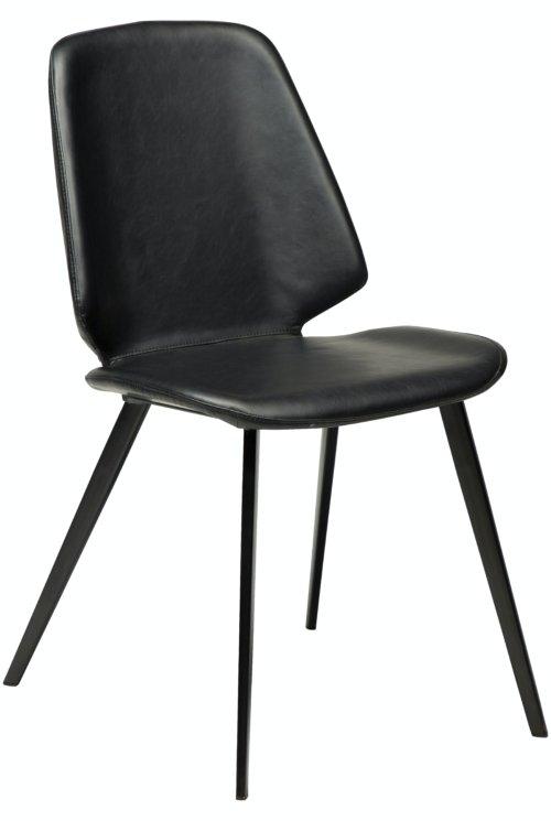 På billedet ser du variationen Swing, Spisebordsstol, Kunstlæder fra brandet DAN-FORM Denmark i en størrelse H: 84 cm. B: 46,5 cm. i farven Sort