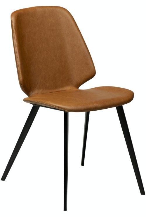 På billedet ser du variationen Swing, Spisebordsstol, Kunstlæder fra brandet DAN-FORM Denmark i en størrelse H: 84 cm. B: 46,5 cm. i farven Brun/Sort