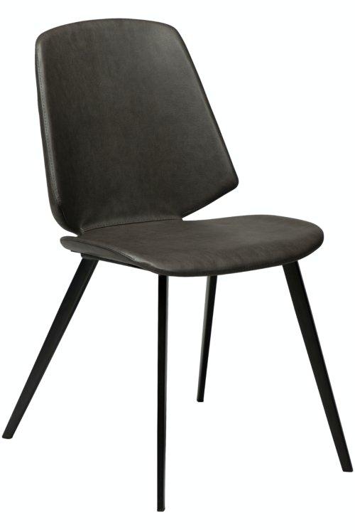 På billedet ser du variationen Swing, Spisebordsstol, Kunstlæder fra brandet DAN-FORM Denmark i en størrelse H: 84 cm. B: 46,5 cm. i farven Grå/Sort