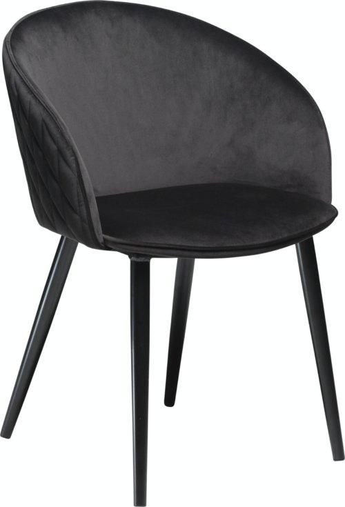 På billedet ser du variationen Dual, Spisebordsstol, Fløjl fra brandet DAN-FORM Denmark i en størrelse H: 80 cm. B: 57 cm. i farven Sort
