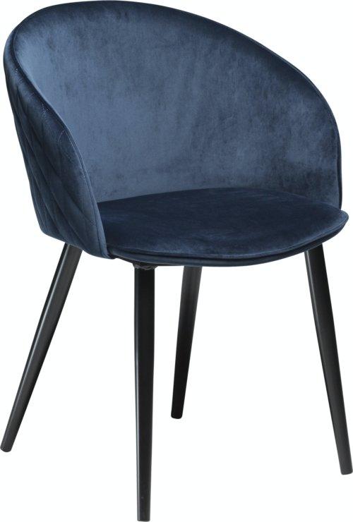 På billedet ser du variationen Dual, Spisebordsstol, Fløjl fra brandet DAN-FORM Denmark i en størrelse H: 80 cm. B: 57 cm. i farven Blå/Sort