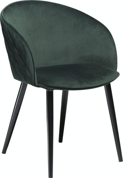 På billedet ser du variationen Dual, Spisebordsstol, Fløjl fra brandet DAN-FORM Denmark i en størrelse H: 80 cm. B: 57 cm. i farven Grøn/Sort