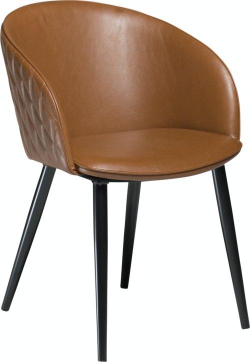På billedet ser du variationen Dual, Spisebordsstol, Kunstlæder fra brandet DAN-FORM Denmark i en størrelse H: 80 cm. B: 57 cm. i farven Brun/Sort