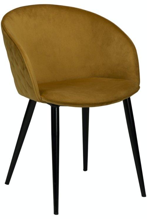 På billedet ser du variationen Dual, Spisebordsstol, Fløjl fra brandet DAN-FORM Denmark i en størrelse H: 80 cm. B: 57 cm. i farven Okker/Sort