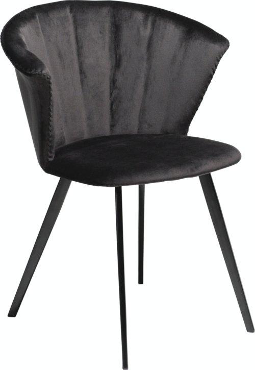 På billedet ser du variationen Merge, Spisebordsstol, Fløjl fra brandet DAN-FORM Denmark i en størrelse H: 78 cm. B: 61 cm. i farven Sort