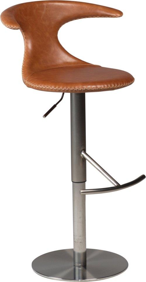 På billedet ser du variationen Flair, Barstol, Læder fra brandet DAN-FORM Denmark i en størrelse H: 76 cm. B: 57 cm. i farven Brun/Sort