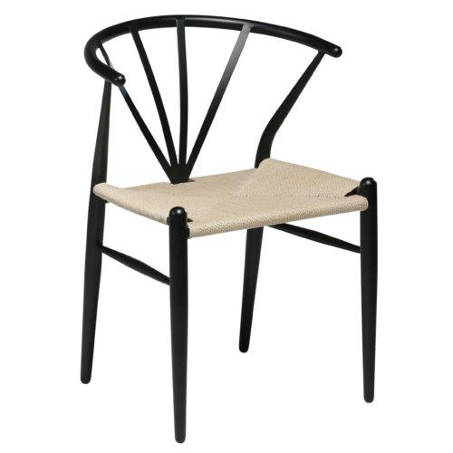 På billedet ser du variationen Delta, Spisebordsstol, Papirledning fra brandet DAN-FORM Denmark i en størrelse H: 78 cm. B: 53 cm. i farven Sort/Beige