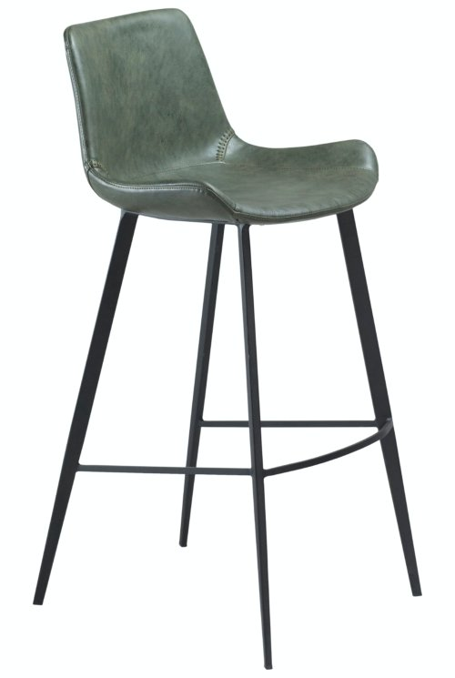 På billedet ser du variationen Hype, Barstol, Kunstlæder fra brandet DAN-FORM Denmark i en størrelse H: 101 cm. B: 49 cm. i farven Grøn/Sort