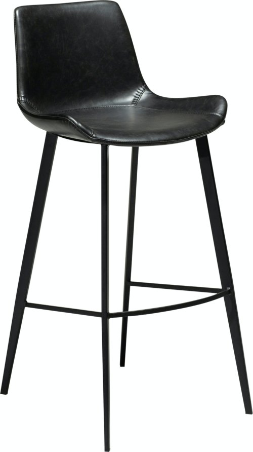 På billedet ser du variationen Hype, Barstol, Kunstlæder fra brandet DAN-FORM Denmark i en størrelse H: 101 cm. B: 49 cm. i farven Sort