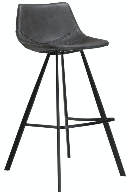 På billedet ser du variationen Pitch, Barstol, Kunstlæder fra brandet DAN-FORM Denmark i en størrelse H: 98 cm. B: 45 cm. i farven Grå/Sort