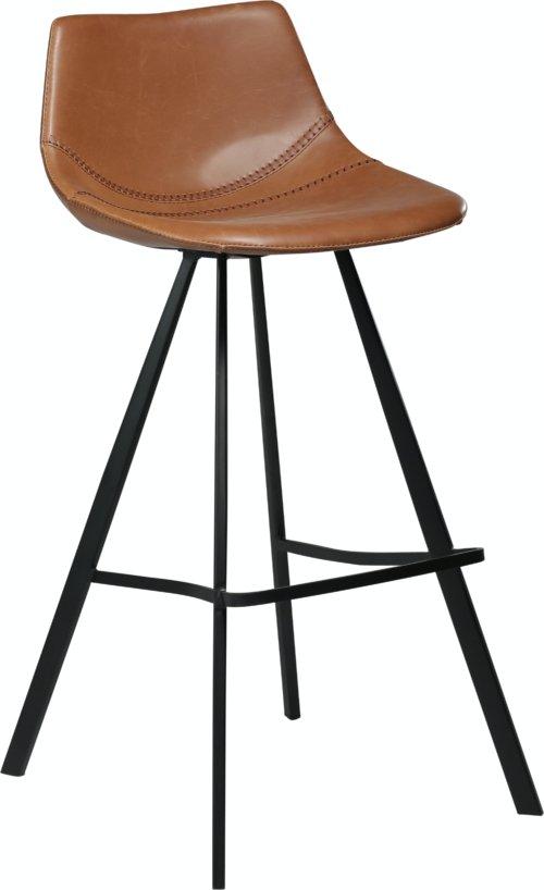 På billedet ser du variationen Pitch, Barstol, Kunstlæder fra brandet DAN-FORM Denmark i en størrelse H: 98 cm. B: 45 cm. i farven Brun/Sort