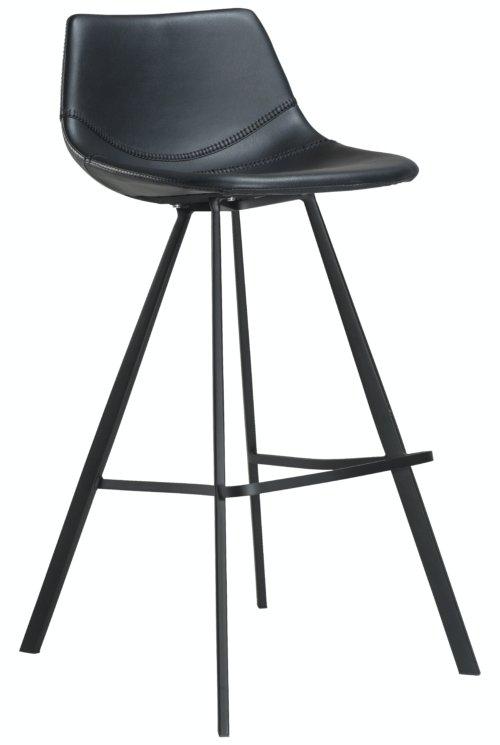 På billedet ser du variationen Pitch, Barstol, Kunstlæder fra brandet DAN-FORM Denmark i en størrelse H: 98 cm. B: 45 cm. i farven Sort